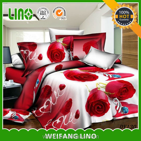 3d duvet cover/padded bed sheet/fabric for bed cover