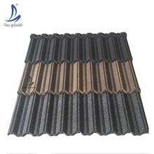 stone-coated metal roof tile making machine, aluminum zinc stone coated roofing tile