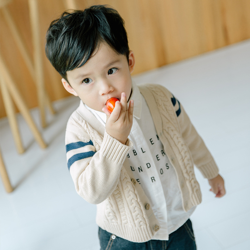 Children Cotton Casual Clothing Outerwear Cardigan Sweaters
