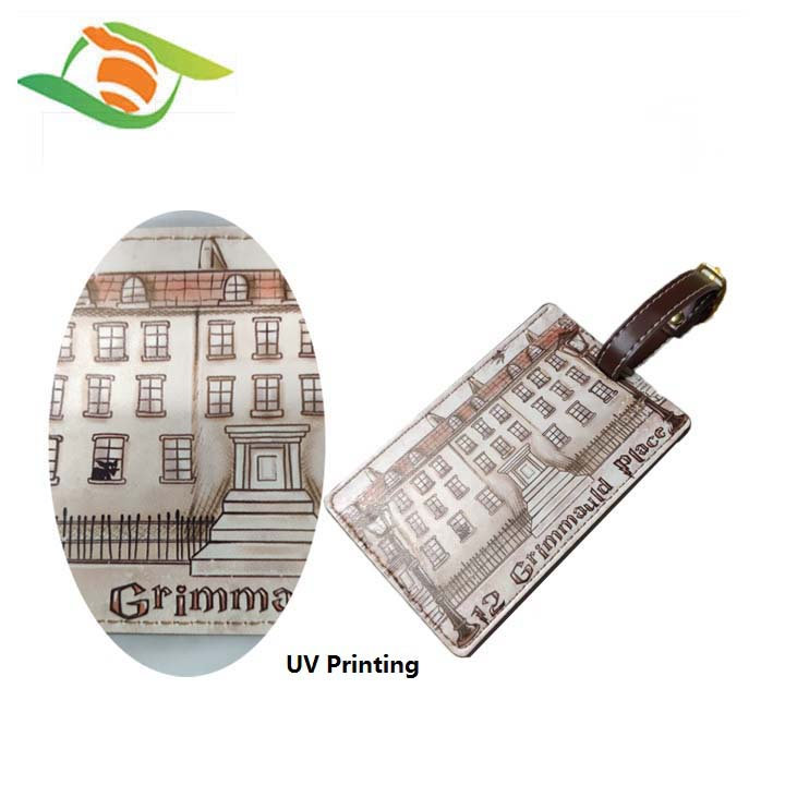 New products for  PU Leather luggage tag with custom design, factory price for baggage tag