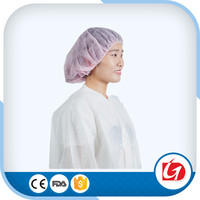 Disposable Hair Dust Net Caps Stretch Non Woven Bouffant Spa Tan Cap