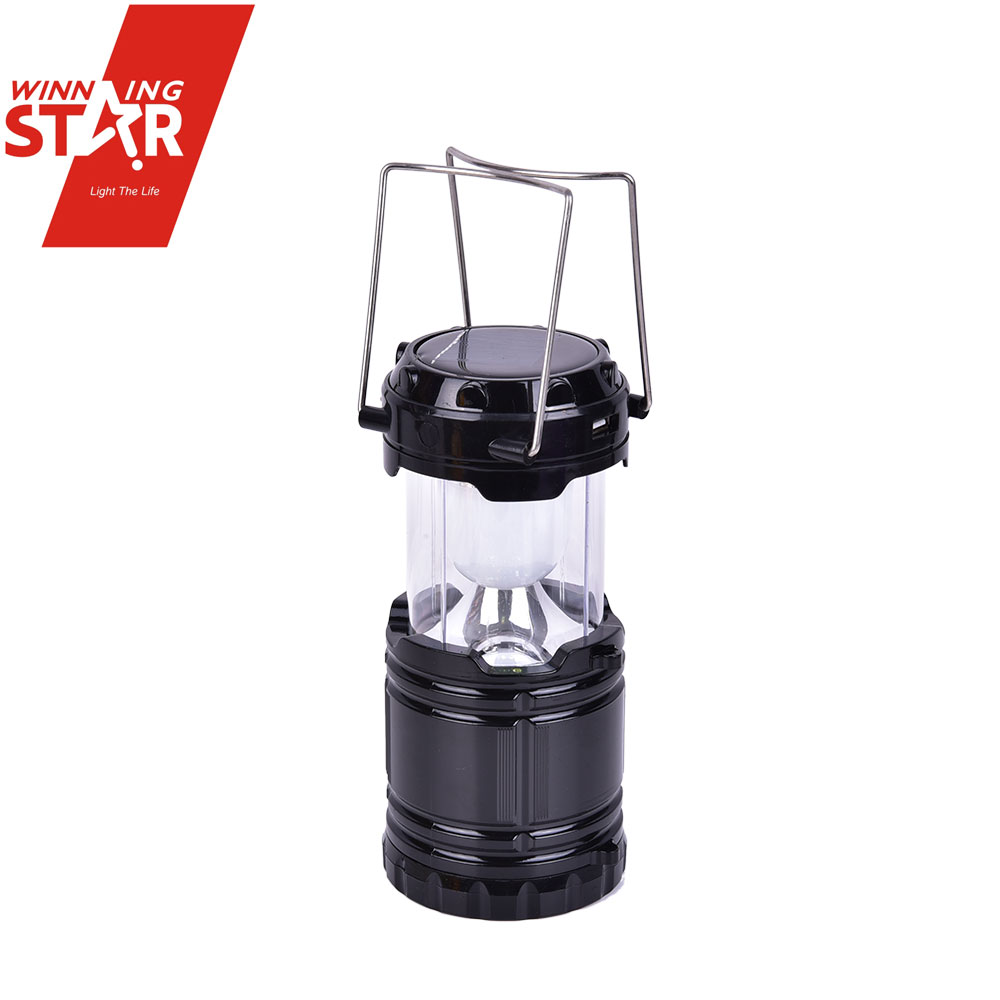 Solar lantern with mobile phone charger Hand Solar Metal Lantern Led Rechargeable Camping Solar Lantern