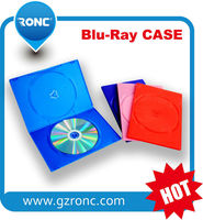 RONC Factory Wholesale PP 7mm single dvd case cd box holder black blue ray cases