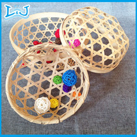 different kinds of handicraft bamboo basket