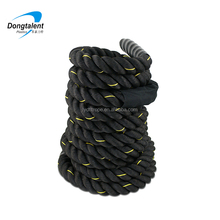 2inch 15m nylon material twisted type battle rope training for sale