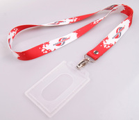 China high quality low price customized north face lanyard with id card