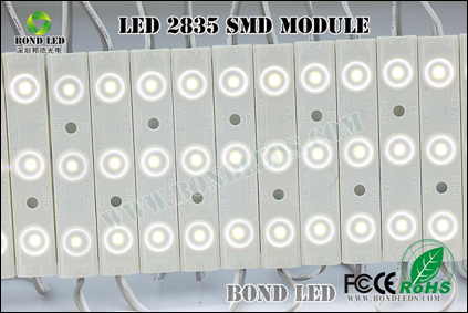 IP67 led module 2835 3led with lens injection flexible oled font laser cutting