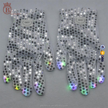 LED Party Favor Event Sequins Finger Glitter Performance Props Gloves