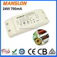 Hot sale! meanwell led power driver constant current 700mA 24W led power supply with CE TUV SAA