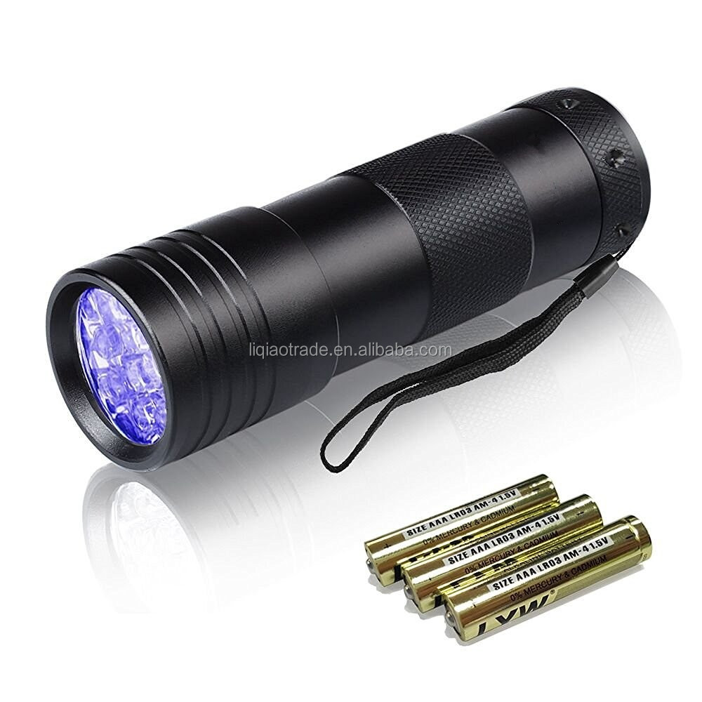 UV Torch,Pets Black Light 12Led Lights UV Dogs/Cats Urine Detector, Ultraviolet Flashlight Find Dry Stains on Carpets/Rugs/Floor