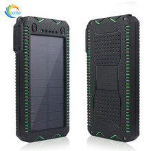 New custom products led light mobile phone solar charger 12000mah portable battery universal Power Bank