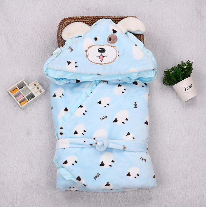 Baby indoor animal printed blanket milky fleece sleeping bags without sleeves wholesale
