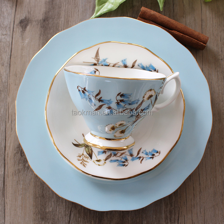 royal europe style fine bone porcelain tea cup and saucer