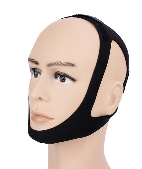 Neoprene anti snore sleep apnea chin strap stopper