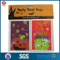 2016 Halloween Designs Black Spider Small Gift Wrapping Bag Plastic Candy Bag