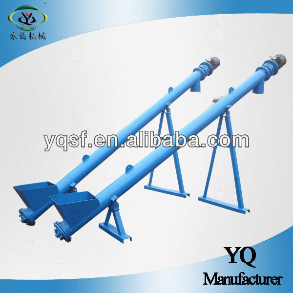 YongQing professional single pipe automatic screw auger conveyor equipment for automatic transportation