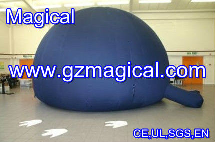 sphere Inflatable planetarium dome example/ BLACK inflatable air dome