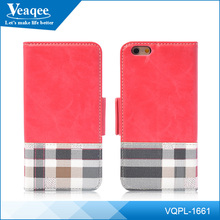 Veaqee Universal Magnetic Leather Folio Flip Book Wallet Pouch Case Cover With Fold Up Kickstand for iphone cover