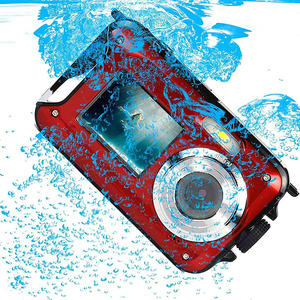 waterproof digital camera real 3m underwater camera with dual screen