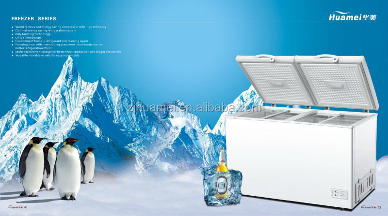 hot selling single-temp form top door freezer refrigerator