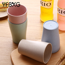 Eco-friendly Biodegradable Wheat Straw water Cup with Spot Stain