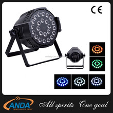 High Brightness 18pcs 10w RGBW 4in1/5in1 LED par light Home party disco wedding par light