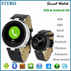 Customized Leather Vibrate motor mobile phone watch 4g