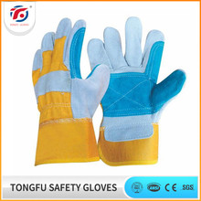 BC Grade Short Cowhide Split Leather Double Palm Welding Working Gloves