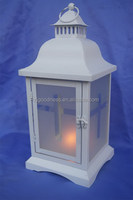 White Metal Tea Light Lantern Home Decoration Candle