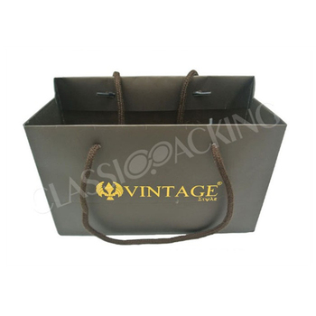 Custom wholesale tote shopping gift kraft paper bag