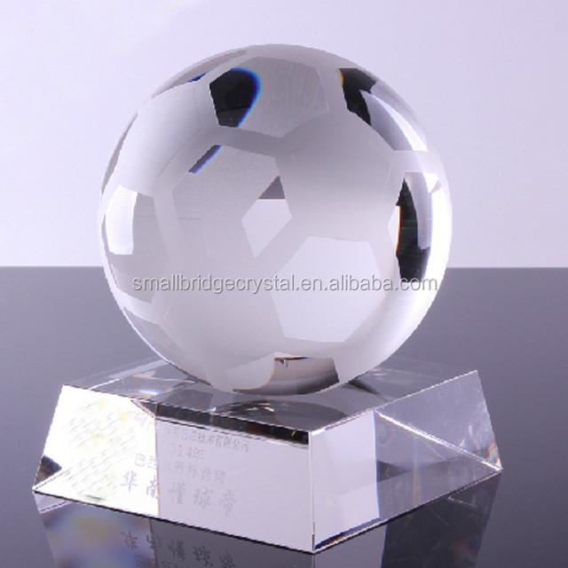 Wholesale Crystal Soccer Ball Award For Sports Souvenirs