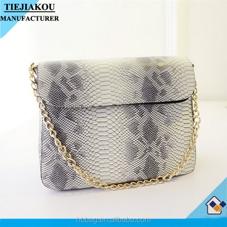 2015 fashion stylish snake Pu leather woman cross body bag shoulder bag for girls