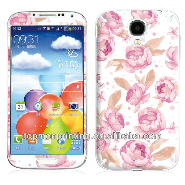 Pink peony,feel full of hapiness,warm and fragrant,sticker for mobile phone