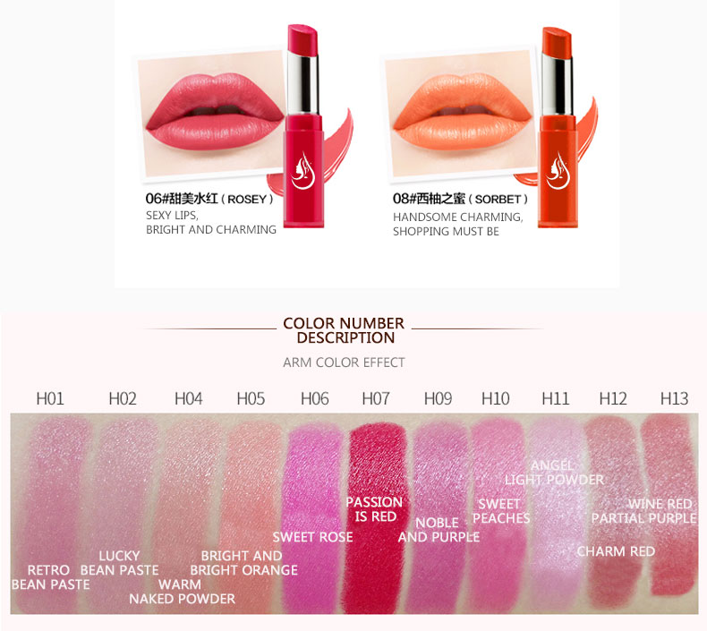 OEM cosmetic private label wholesale matte lipstick