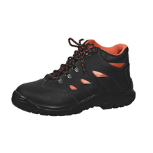 UC-385 High quality feet protect industrial split leather working PU injection safety shoes