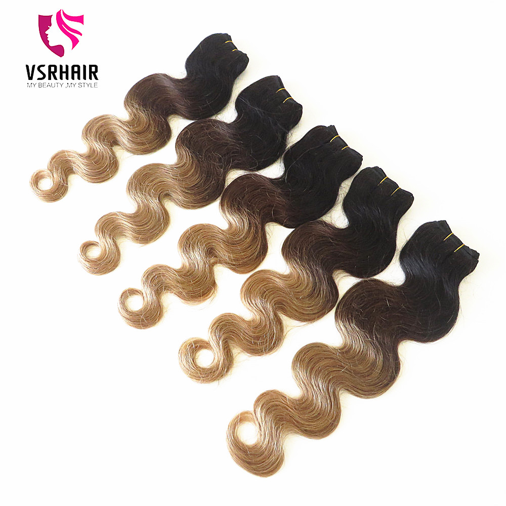 Mink virgin ombre human hair wholesale body wave cheap ombre hair extension