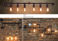 with Edison bulb Nordic simple style industrial loft long water pipe pendant light