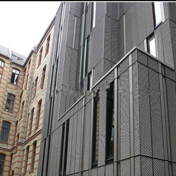 extrior decoration aluminum expanded steel mesh of bundling facade 3d wallpap (manufacture and ISO 9001)