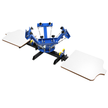 4 Color 2 Station Silk Screening Screenprint Press Screen Printing Machine
