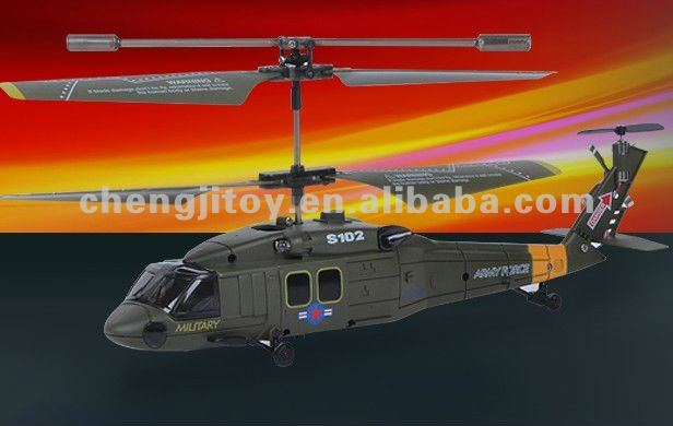 hot selling 3.5ch r/c helicopter with gyro-black hawk