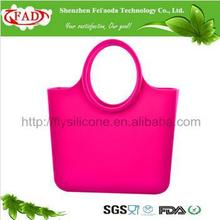 Custom Promotional Fashionable O Bag Rubber Bag Silicone Tote Bag