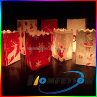 luminary paper candle bags for holiday