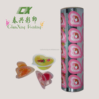 plastic easy peel foil laminated sealing film for jelly cup