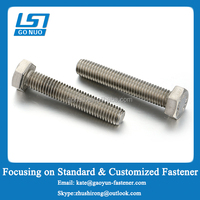 China fastener manufacturer GONUO Factory offering DIN933 full fine thread metric screw stainless steel
