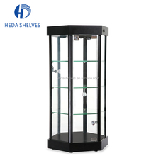 Jewelry Display Showcase Renewing Luxurious Store Tempered Glass Cabinet