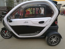 full closed electric car with 3 wheel/confortable sponge seat battery operated car/ two passenger seat electric power tricycle