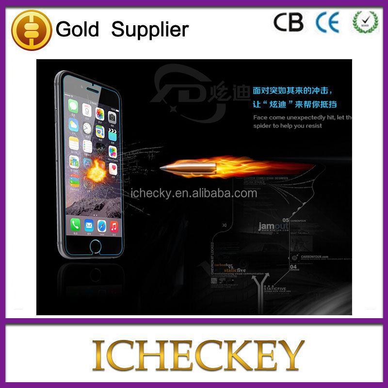 for apple mobile dual sim phones 0.3mm 9H Icheckey tempered glass screen protectors