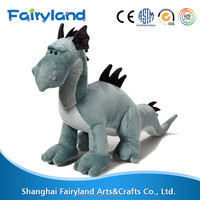 Dinosaur plush toy Blue Standing 12inch chinese dragon wholesale