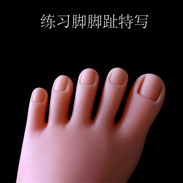 Nail training practice foot manicure nail silicone practice hand for nails