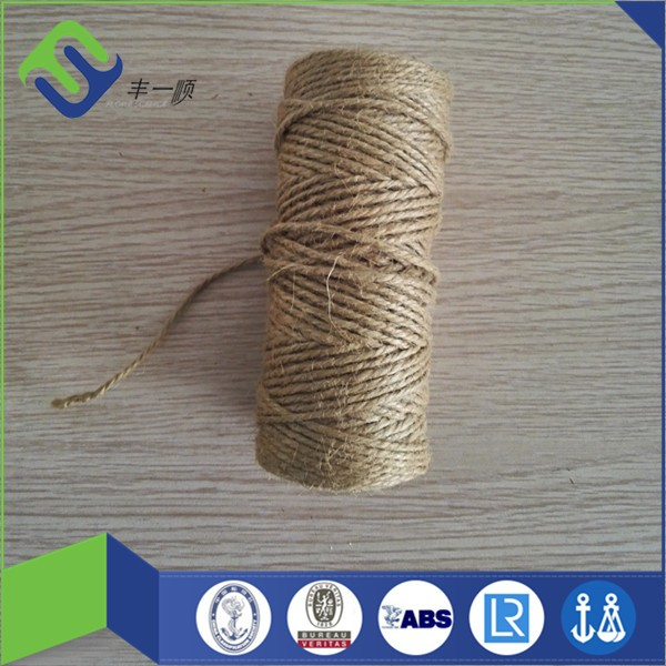 qingdao 2mm / 3mm twisted jute / hemp rope for sale